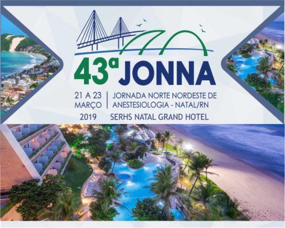 43ª JONNA – Jornada Norte Nordeste de Anestesiologia