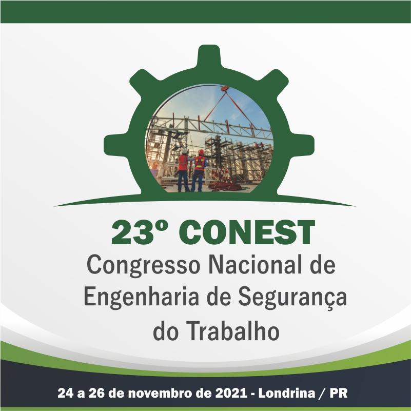 23º Congresso Nacional de Engenharia de Segurança do Trabalho